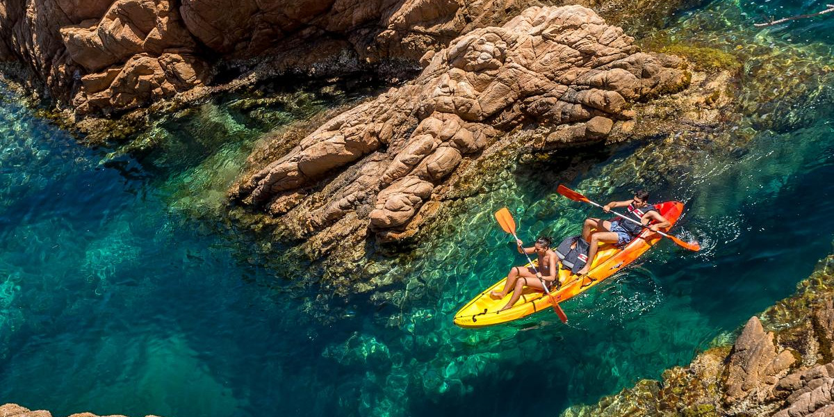 Kayaking and Snorkeling in Costa Brava,  from Barcelona